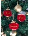Yeni Yıl İsimli Altın Varaklı Ağaç Süsü